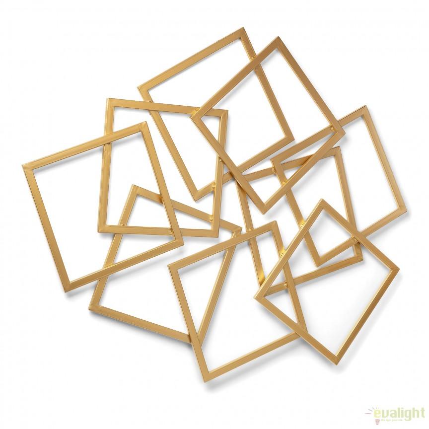 Decoratiune de perete din metal auriu MENTA, 94x113cm AA2545R83 JG, Oglinzi decorative moderne✅ decoratiuni de perete cu oglinda⭐ modele mari si rotunde pentru Hol, Living, Dormitor si Baie.❤️Promotii la oglinzi cu design decorativ❗ Intra si vezi poze ✚ pret ➽ www.evalight.ro. ➽ sursa ta de inspiratie online❗ Alege oglinzi deosebite Art Deco de lux pentru decorare casa, fabricate de branduri renumite. Aici gasesti cele mai frumoase si rafinate obiecte de decor cu stil contemporan unicat, oglinzi elegante cu suport de prindere pe perete, de masa sau de podea potrivite pt dresing, cu rama din metal cu aspect antichizat sau lemn de culoare aurie, sticla argintie in diferite forme: oglinzi in forma de soare, hexagonale tip fagure hexagon, ovale, patrate mici, rectangulara sau dreptunghiulara, design original exclusivist: industrial style, retro, vintage (produse manual handmade), scandinav nordic, clasic, baroc, glamour, romantic, rustic, minimalist. Tendinte si idei actuale de designer pentru amenajari interioare premium Top 2020❗ Oferte si reduceri speciale cu vanzare rapida din stoc, oglinzi de calitate la cel mai bun pret. a