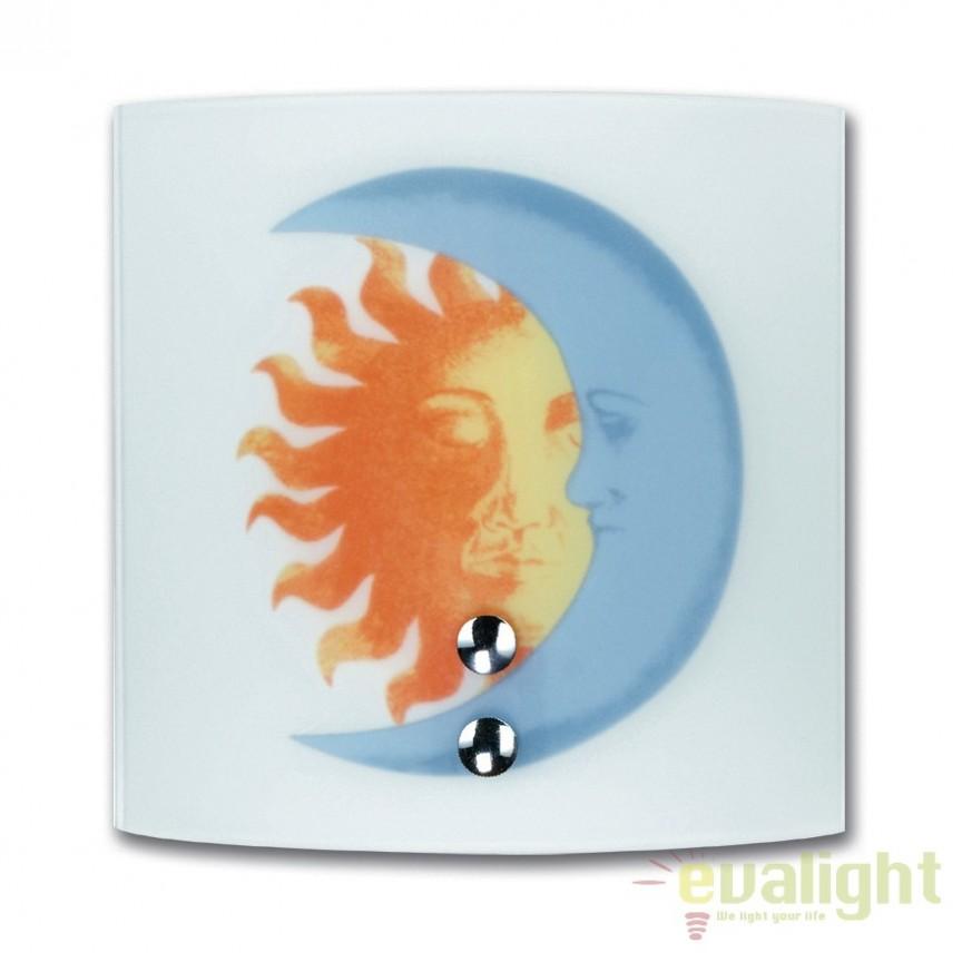 Aplica perete camera copii Sole-luna I-236/00700 FE, Lustre - Iluminat pentru camera Copii, Corpuri de iluminat, lustre, aplice, veioze, lampadare, plafoniere. Mobilier si decoratiuni, oglinzi, scaune, fotolii. Oferte speciale iluminat interior si exterior. Livram in toata tara.  a
