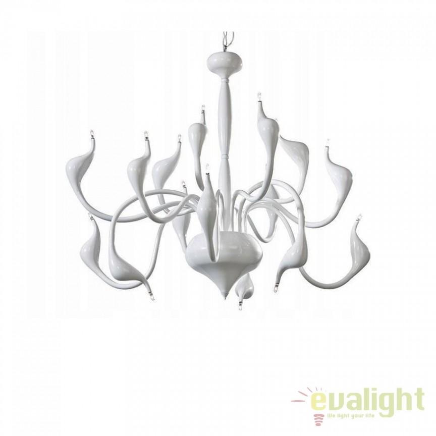 Lustra design modern Snake 2 white, Pendule, Lustre suspendate, Corpuri de iluminat, lustre, aplice, veioze, lampadare, plafoniere. Mobilier si decoratiuni, oglinzi, scaune, fotolii. Oferte speciale iluminat interior si exterior. Livram in toata tara.  a