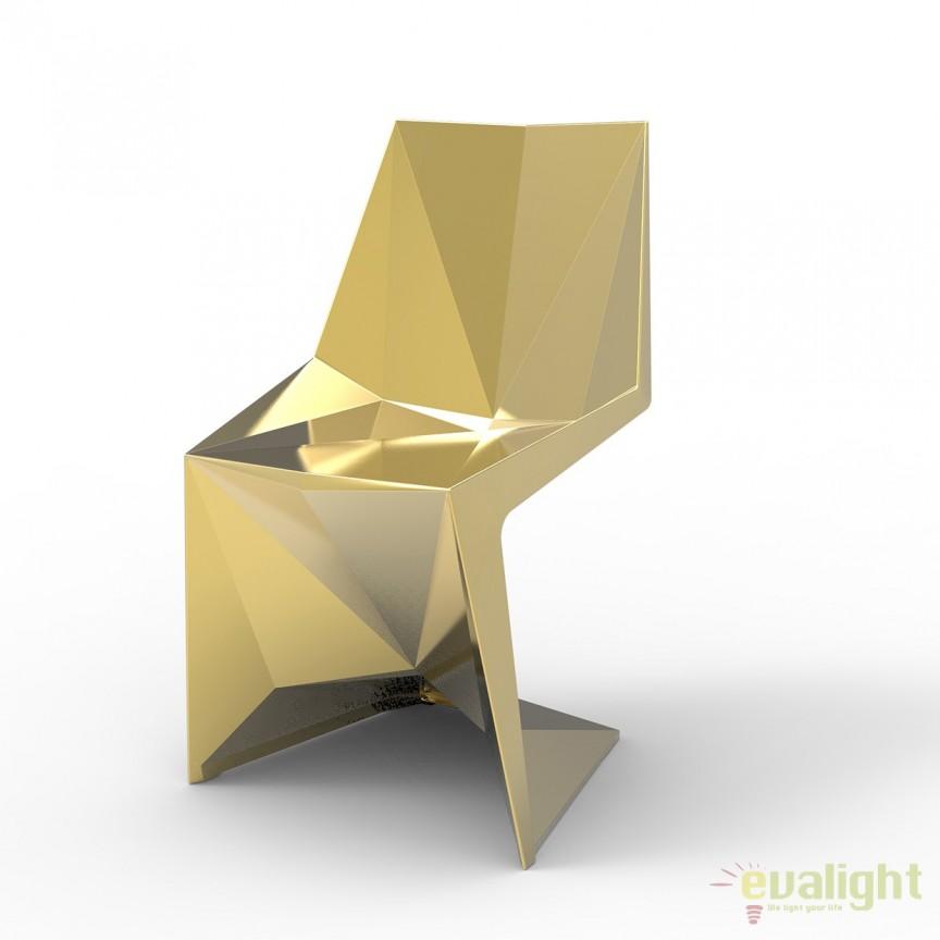 Scaun ultra-modern VOXEL metalizat Vondom, Mobilier terasa si gradina, Corpuri de iluminat, lustre, aplice, veioze, lampadare, plafoniere. Mobilier si decoratiuni, oglinzi, scaune, fotolii. Oferte speciale iluminat interior si exterior. Livram in toata tara.  a