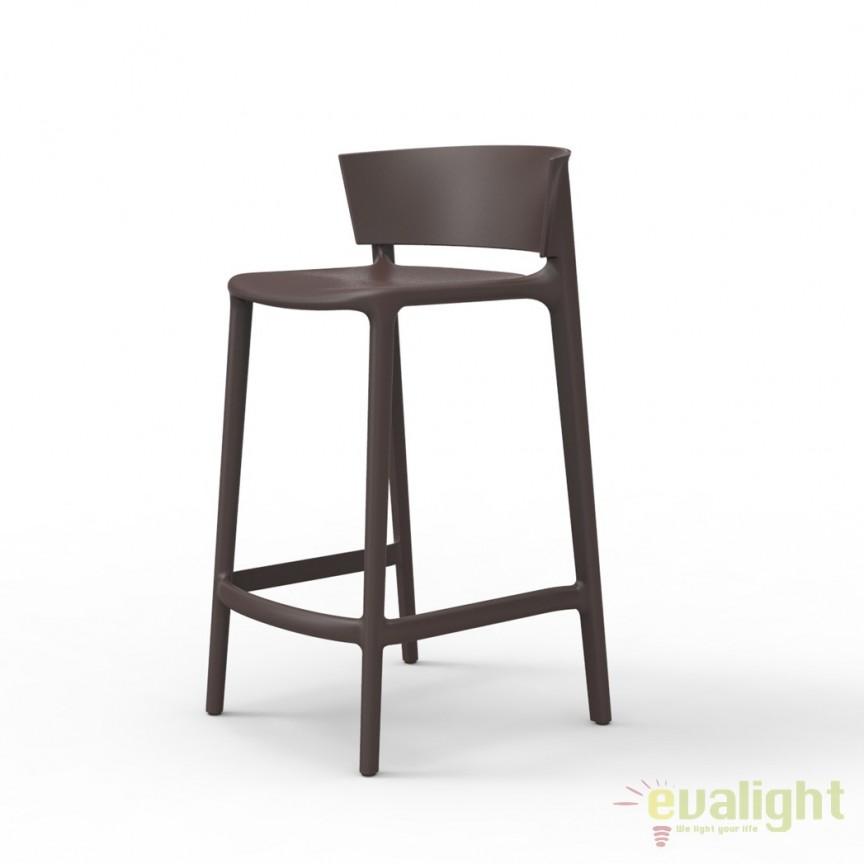 Scaun bar modern AFRICA H85 Vondom, Magazin, Corpuri de iluminat, lustre, aplice, veioze, lampadare, plafoniere. Mobilier si decoratiuni, oglinzi, scaune, fotolii. Oferte speciale iluminat interior si exterior. Livram in toata tara.  a