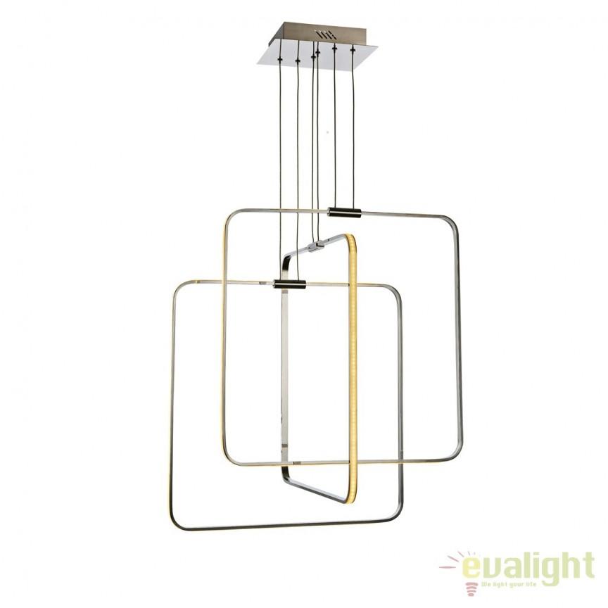 Lustra LED dimabila design modern MADRID, Lustre LED, Pendule LED, Corpuri de iluminat, lustre, aplice, veioze, lampadare, plafoniere. Mobilier si decoratiuni, oglinzi, scaune, fotolii. Oferte speciale iluminat interior si exterior. Livram in toata tara.  a