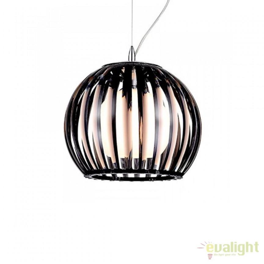 Pendul design modern Arcada M black, CORPURI DE ILUMINAT INTERIOR MODERN, Corpuri de iluminat, lustre, aplice, veioze, lampadare, plafoniere. Mobilier si decoratiuni, oglinzi, scaune, fotolii. Oferte speciale iluminat interior si exterior. Livram in toata tara.  a