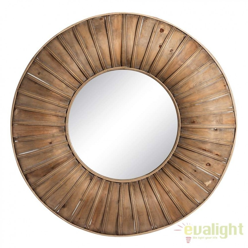 Oglinda decorativa din bambus diametru 80cm SX-106051, Magazin, Corpuri de iluminat, lustre, aplice, veioze, lampadare, plafoniere. Mobilier si decoratiuni, oglinzi, scaune, fotolii. Oferte speciale iluminat interior si exterior. Livram in toata tara.  a