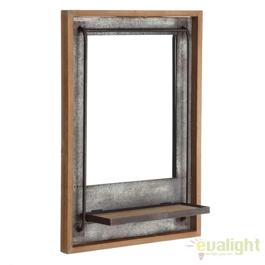 Oglinda decorativa design industrial vintage 50x71,5cm SX-106103, Magazin, Corpuri de iluminat, lustre, aplice, veioze, lampadare, plafoniere. Mobilier si decoratiuni, oglinzi, scaune, fotolii. Oferte speciale iluminat interior si exterior. Livram in toata tara.  a