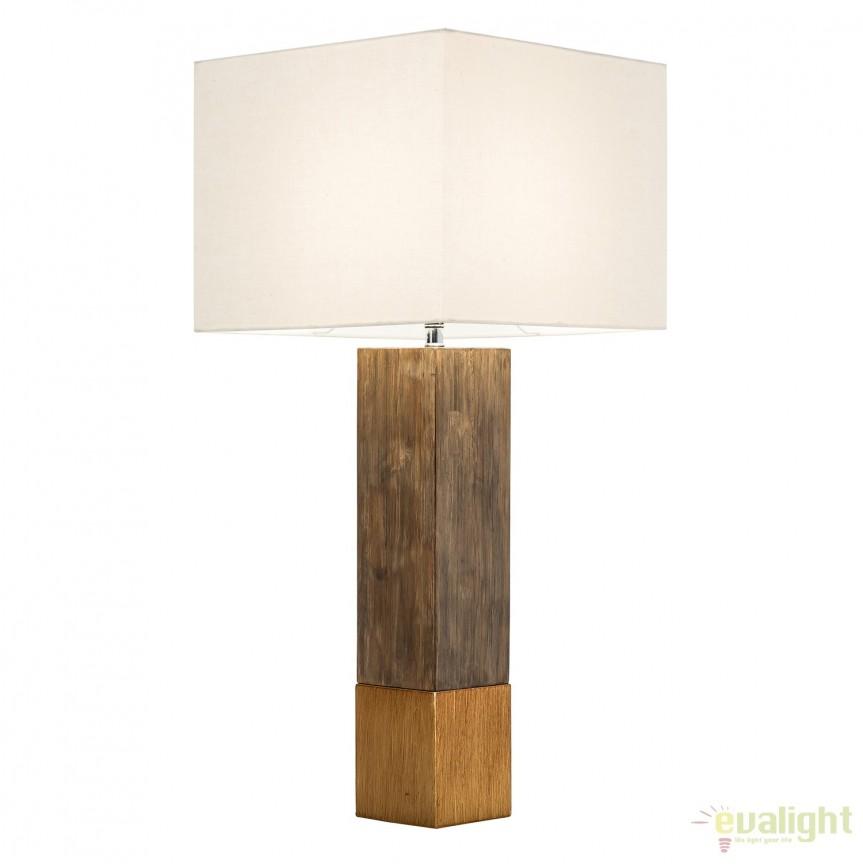 Veioza cu baza din lemn de pin Pure Nature II A-38975 VC, Veioze, Corpuri de iluminat, lustre, aplice, veioze, lampadare, plafoniere. Mobilier si decoratiuni, oglinzi, scaune, fotolii. Oferte speciale iluminat interior si exterior. Livram in toata tara.  a