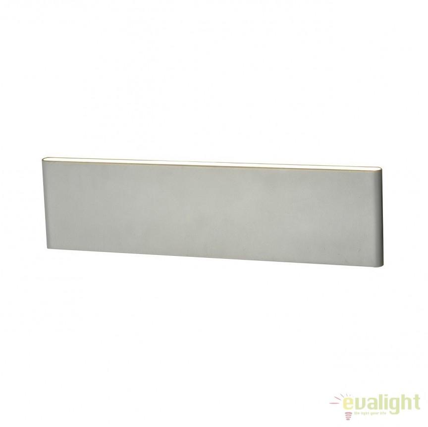 Aplica LED moderna design minimalist NORMAN WHITE M, Aplice de perete LED, moderne⭐ modele potrivite pentru dormitor,living,baie,hol,bucatarie.✅Design premium actual Top 2020!❤️Promotii lampi❗ ➽ www.evalight.ro. Alege oferte la corpuri de iluminat cu LED pt tavan interior, (becuri cu leduri si module LED integrate cu lumina calda, naturala sau rece), ieftine si de lux, calitate deosebita la cel mai bun pret.  a