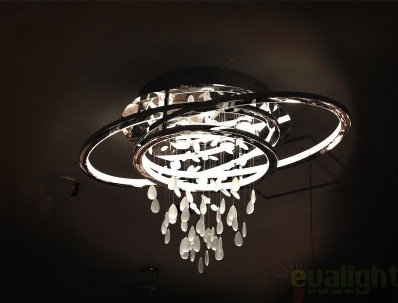 Plafoniere Moderne Cu Led : Lustra plafonier diametru cm h cu cristale led bruma