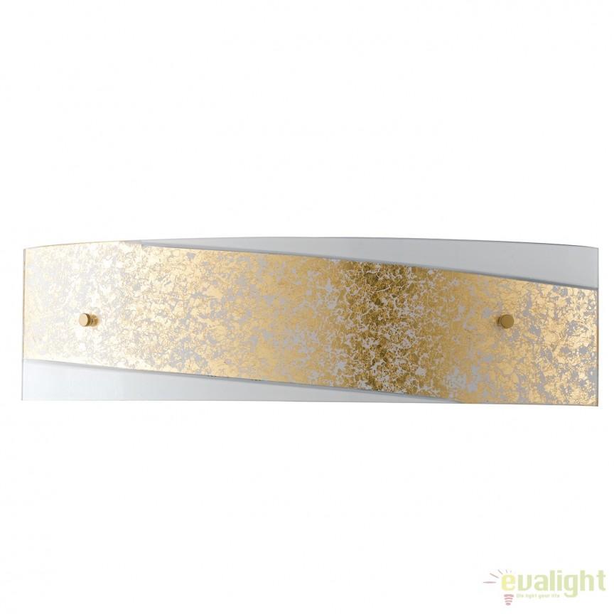 Aplica eleganta design modern Paris auriu, 45cm I-PARIS/4512 ORO FE, Aplice de perete simple, Corpuri de iluminat, lustre, aplice, veioze, lampadare, plafoniere. Mobilier si decoratiuni, oglinzi, scaune, fotolii. Oferte speciale iluminat interior si exterior. Livram in toata tara.  a