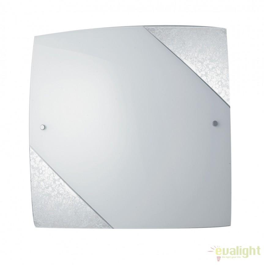 Aplica eleganta design modern Paris argintiu, 40x40cm I-PARIS/4040 SIL FE, Aplice de perete simple, Corpuri de iluminat, lustre, aplice, veioze, lampadare, plafoniere. Mobilier si decoratiuni, oglinzi, scaune, fotolii. Oferte speciale iluminat interior si exterior. Livram in toata tara.  a