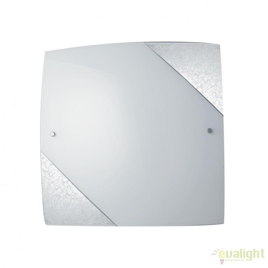 Aplica eleganta design modern Paris argintiu, 30x30cm I-PARIS/3030 SIL FE, Aplice de perete simple, Corpuri de iluminat, lustre, aplice, veioze, lampadare, plafoniere. Mobilier si decoratiuni, oglinzi, scaune, fotolii. Oferte speciale iluminat interior si exterior. Livram in toata tara.  a