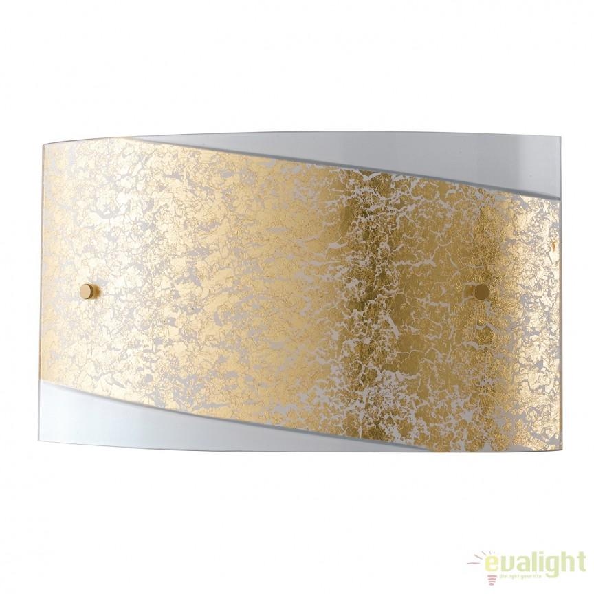 Aplica eleganta design modern Paris auriu, 45x25cm I-PARIS/4525 ORO FE, Aplice de perete simple, Corpuri de iluminat, lustre, aplice, veioze, lampadare, plafoniere. Mobilier si decoratiuni, oglinzi, scaune, fotolii. Oferte speciale iluminat interior si exterior. Livram in toata tara.  a