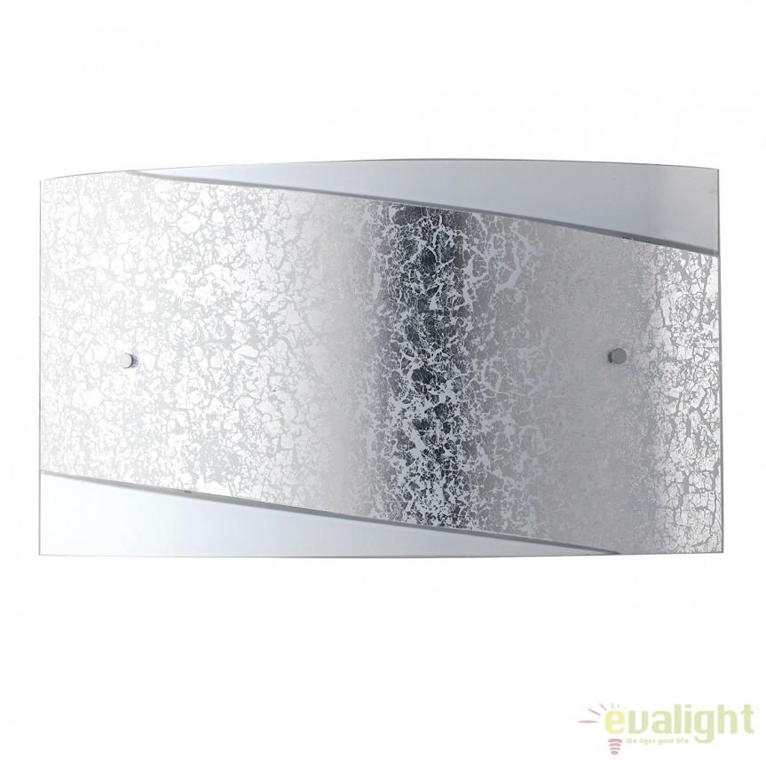Aplica eleganta design modern Paris argintiu, 45x25cm I-PARIS/4525 SIL FE, Aplice de perete simple, Corpuri de iluminat, lustre, aplice, veioze, lampadare, plafoniere. Mobilier si decoratiuni, oglinzi, scaune, fotolii. Oferte speciale iluminat interior si exterior. Livram in toata tara.  a