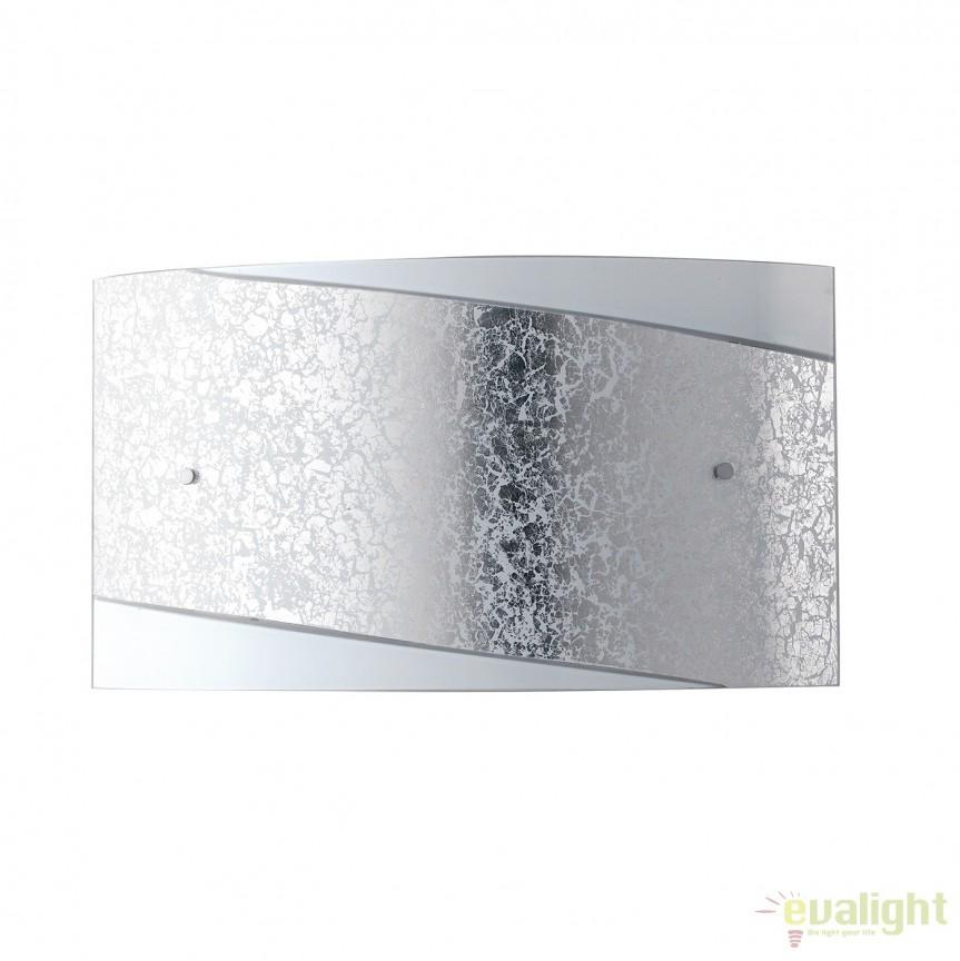 Aplica eleganta design modern Paris argintiu, 35x20cm I-PARIS/3520 SIL FE, Aplice de perete simple, Corpuri de iluminat, lustre, aplice, veioze, lampadare, plafoniere. Mobilier si decoratiuni, oglinzi, scaune, fotolii. Oferte speciale iluminat interior si exterior. Livram in toata tara.  a