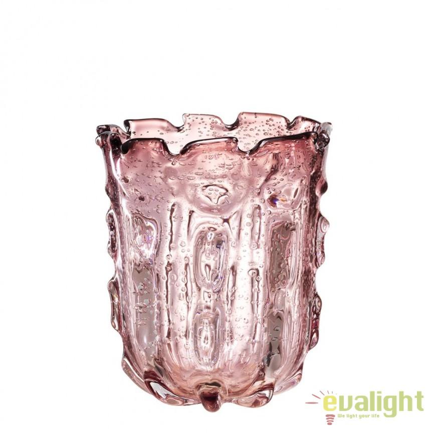 Vaza design elegant Baymont S roz pal 112578 HZ, Vaze, Ghivece decorative, Corpuri de iluminat, lustre, aplice, veioze, lampadare, plafoniere. Mobilier si decoratiuni, oglinzi, scaune, fotolii. Oferte speciale iluminat interior si exterior. Livram in toata tara.  a