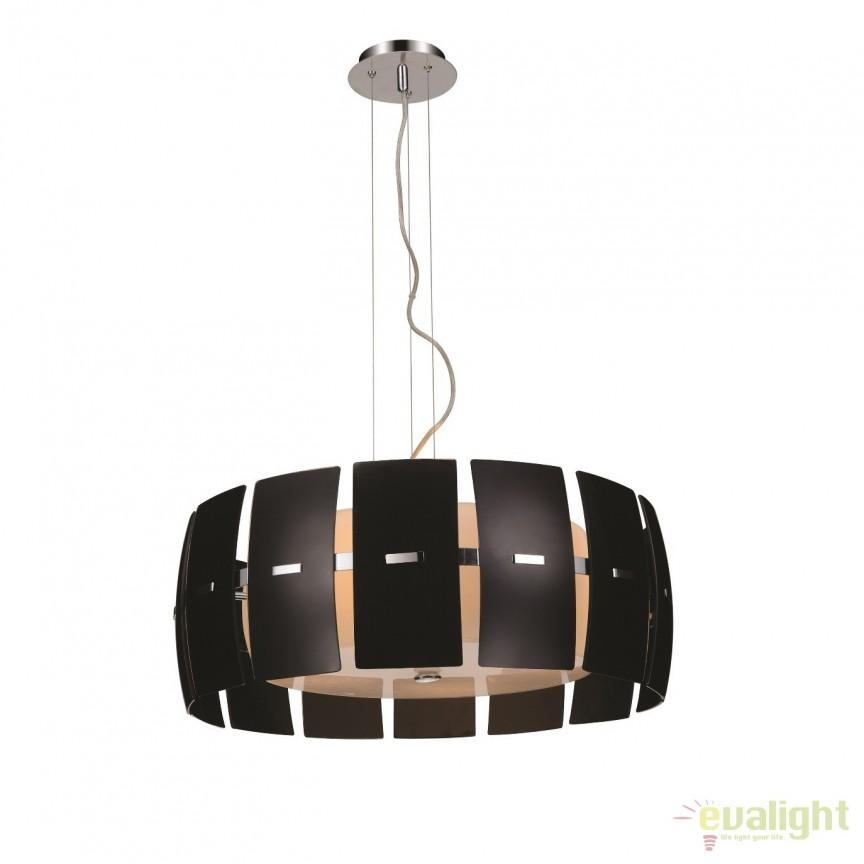 Lustra design modern Ø51cm Taurus 2 Black, Candelabre, Lustre moderne, Corpuri de iluminat, lustre, aplice, veioze, lampadare, plafoniere. Mobilier si decoratiuni, oglinzi, scaune, fotolii. Oferte speciale iluminat interior si exterior. Livram in toata tara.  a