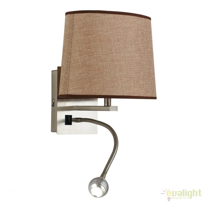 Aplica cu reader LED design modern Helly I-090111-5F FE, Aplice de perete LED, moderne⭐ modele potrivite pentru dormitor, living, baie, hol, bucatarie.✅DeSiGn LED decorativ 2021!❤️Promotii lampi❗ ➽ www.evalight.ro. Alege oferte NOI corpuri de iluminat cu LED pt interior, elegante din cristal (becuri cu leduri si module LED integrate cu lumina calda, naturala sau rece), ieftine si de lux, calitate deosebita la cel mai bun pret.  a