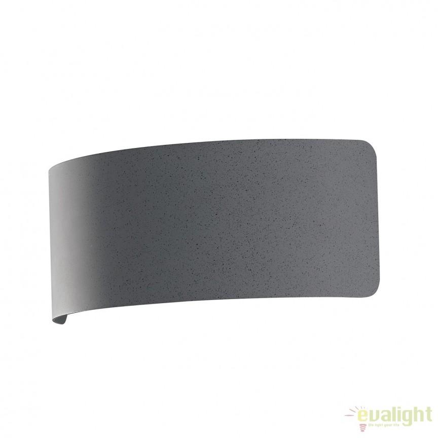 Aplica LED lumina ambientala Dynamic 23cm, gri LED-DYNAMIC-AP23 GR FE, Aplice de perete LED, Corpuri de iluminat, lustre, aplice, veioze, lampadare, plafoniere. Mobilier si decoratiuni, oglinzi, scaune, fotolii. Oferte speciale iluminat interior si exterior. Livram in toata tara.  a