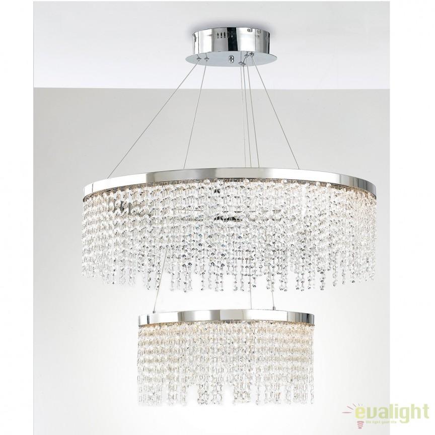 Lustra LED eleganta cu cristale K9 Venus 75cm LED-VENUS-S75 FE, Candelabre, Lustre moderne, Corpuri de iluminat, lustre, aplice, veioze, lampadare, plafoniere. Mobilier si decoratiuni, oglinzi, scaune, fotolii. Oferte speciale iluminat interior si exterior. Livram in toata tara.  a