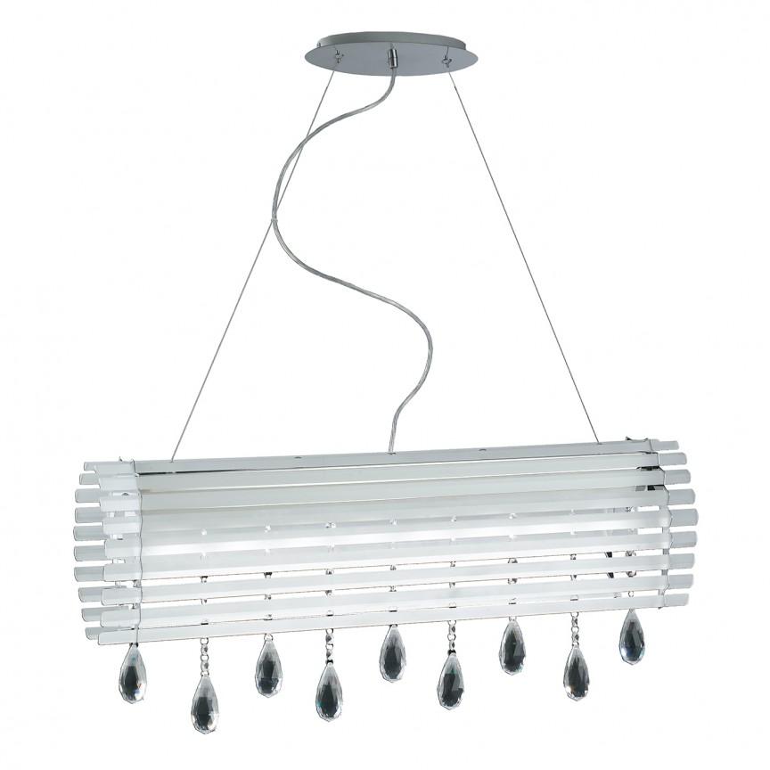 Lustra LED eleganta cu cristale K9 Samara LED-SAMARA-S80 FE, Candelabre, Lustre moderne, Corpuri de iluminat, lustre, aplice, veioze, lampadare, plafoniere. Mobilier si decoratiuni, oglinzi, scaune, fotolii. Oferte speciale iluminat interior si exterior. Livram in toata tara.  a