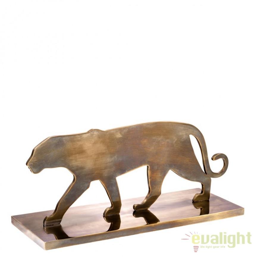 Statueta/ Obiect decorativ Panther Silhouette alama vintage 112878 HZ, Statuete, Figurine decorative, Corpuri de iluminat, lustre, aplice, veioze, lampadare, plafoniere. Mobilier si decoratiuni, oglinzi, scaune, fotolii. Oferte speciale iluminat interior si exterior. Livram in toata tara.  a