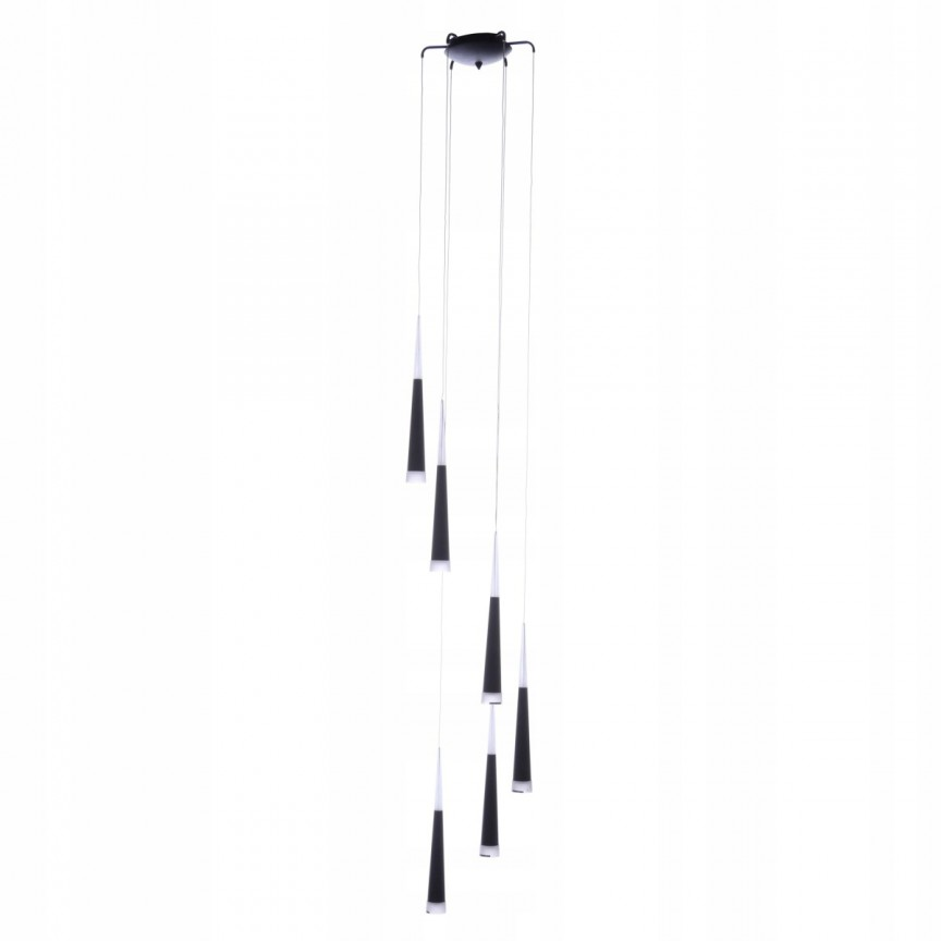 Lustra LED design modern Brina 6 Black, ILUMINAT INTERIOR LED , Corpuri de iluminat, lustre, aplice, veioze, lampadare, plafoniere. Mobilier si decoratiuni, oglinzi, scaune, fotolii. Oferte speciale iluminat interior si exterior. Livram in toata tara.  a