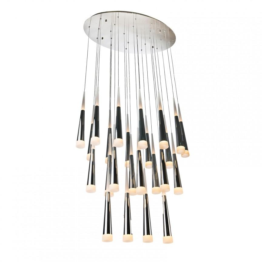 Lustra LED design modern Brina 24 Chrome, Lustre moderne aplicate, Corpuri de iluminat, lustre, aplice, veioze, lampadare, plafoniere. Mobilier si decoratiuni, oglinzi, scaune, fotolii. Oferte speciale iluminat interior si exterior. Livram in toata tara.  a