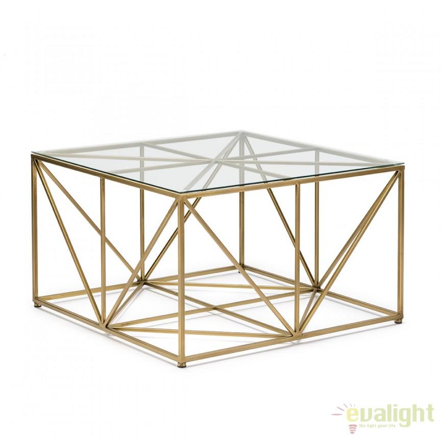 Masuta moderna design LUX Glass, 76x76cm 13172/00 TN, Masute de cafea, Corpuri de iluminat, lustre, aplice, veioze, lampadare, plafoniere. Mobilier si decoratiuni, oglinzi, scaune, fotolii. Oferte speciale iluminat interior si exterior. Livram in toata tara.  a