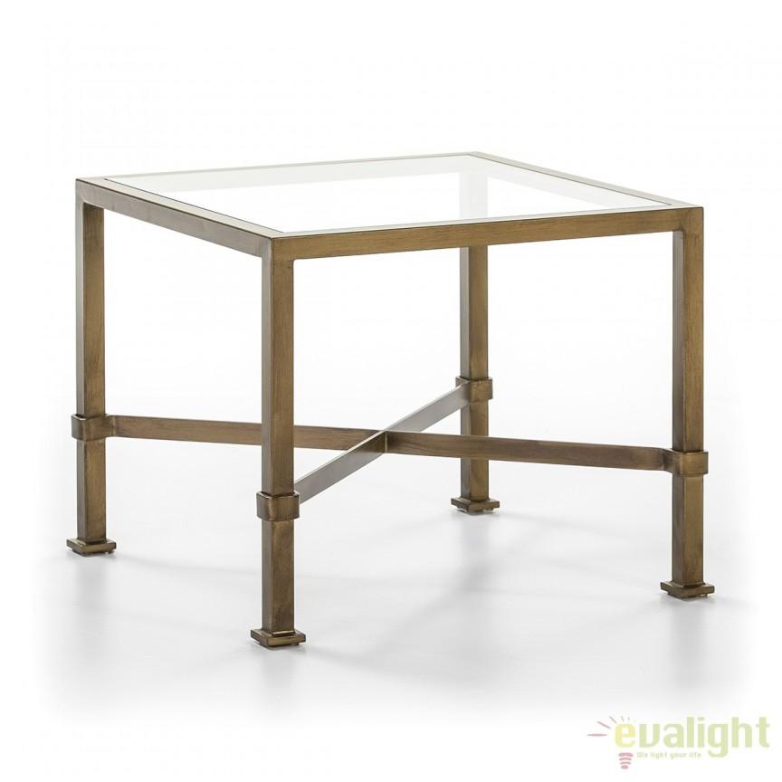 Masuta moderna design LUX Glass, 60x60cm 10305/00 TN, Masute de cafea, Corpuri de iluminat, lustre, aplice, veioze, lampadare, plafoniere. Mobilier si decoratiuni, oglinzi, scaune, fotolii. Oferte speciale iluminat interior si exterior. Livram in toata tara.  a