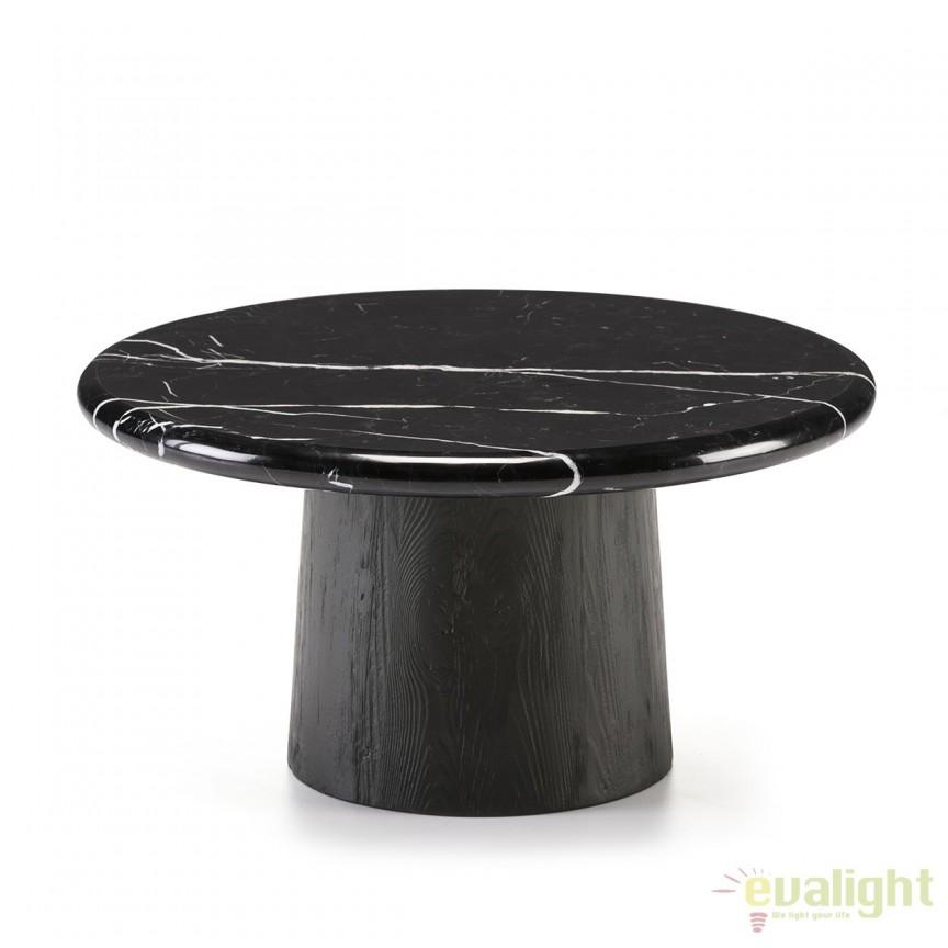 Masuta eleganta design LUX Marble Black, 70cm 40442/00 TN, Masute de cafea, Corpuri de iluminat, lustre, aplice, veioze, lampadare, plafoniere. Mobilier si decoratiuni, oglinzi, scaune, fotolii. Oferte speciale iluminat interior si exterior. Livram in toata tara.  a