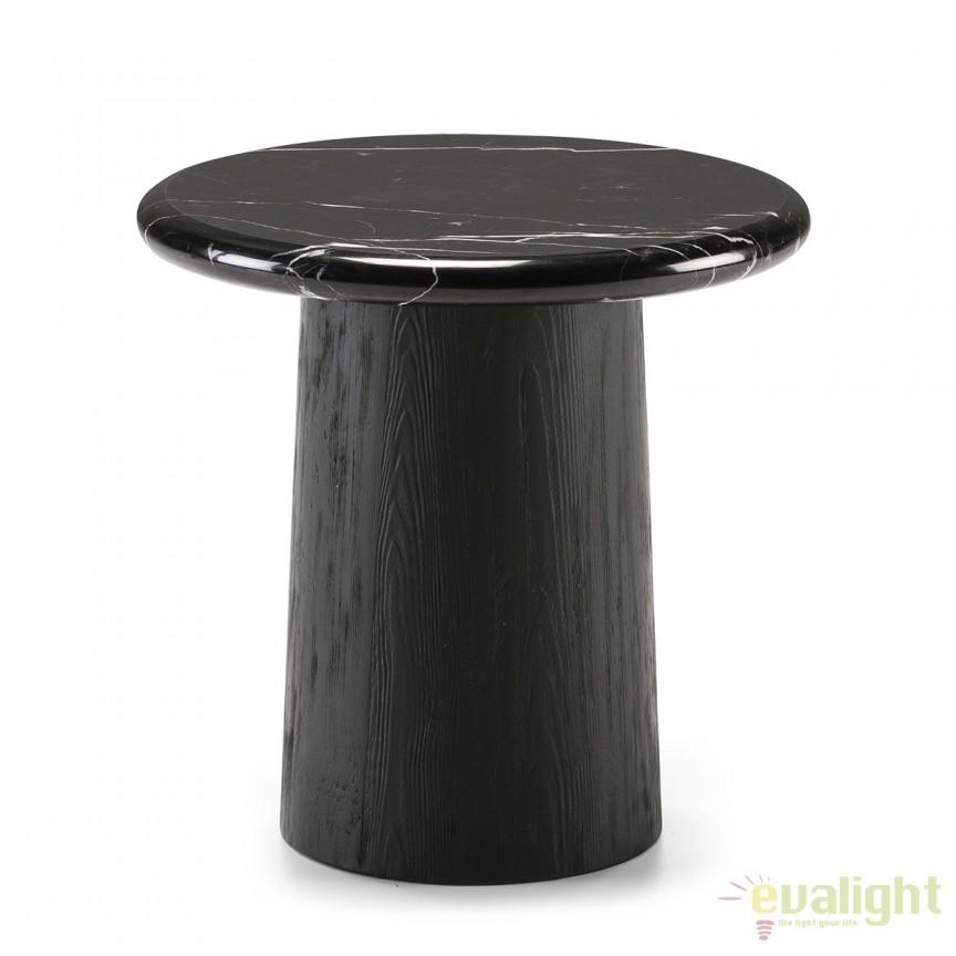 Masuta eleganta design LUX Marble Black, 50cm 40441/00 TN, Masute de cafea, Corpuri de iluminat, lustre, aplice, veioze, lampadare, plafoniere. Mobilier si decoratiuni, oglinzi, scaune, fotolii. Oferte speciale iluminat interior si exterior. Livram in toata tara.  a