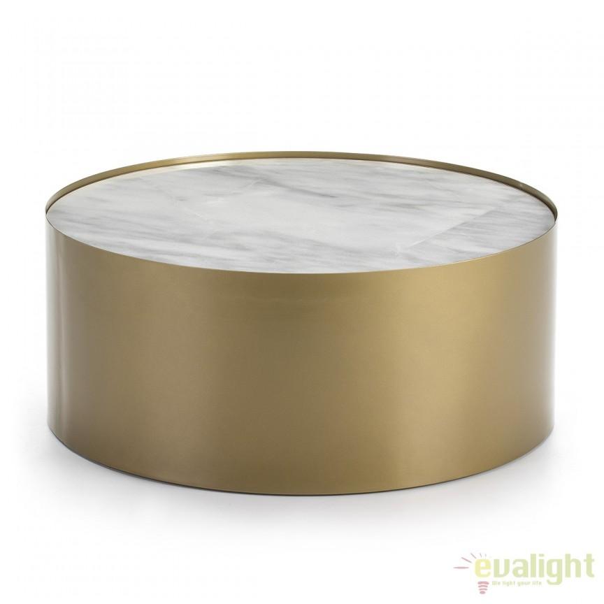 Masuta moderna design LUX Marble White, 80cm 40440/00 TN, Masute de cafea, Corpuri de iluminat, lustre, aplice, veioze, lampadare, plafoniere. Mobilier si decoratiuni, oglinzi, scaune, fotolii. Oferte speciale iluminat interior si exterior. Livram in toata tara.  a