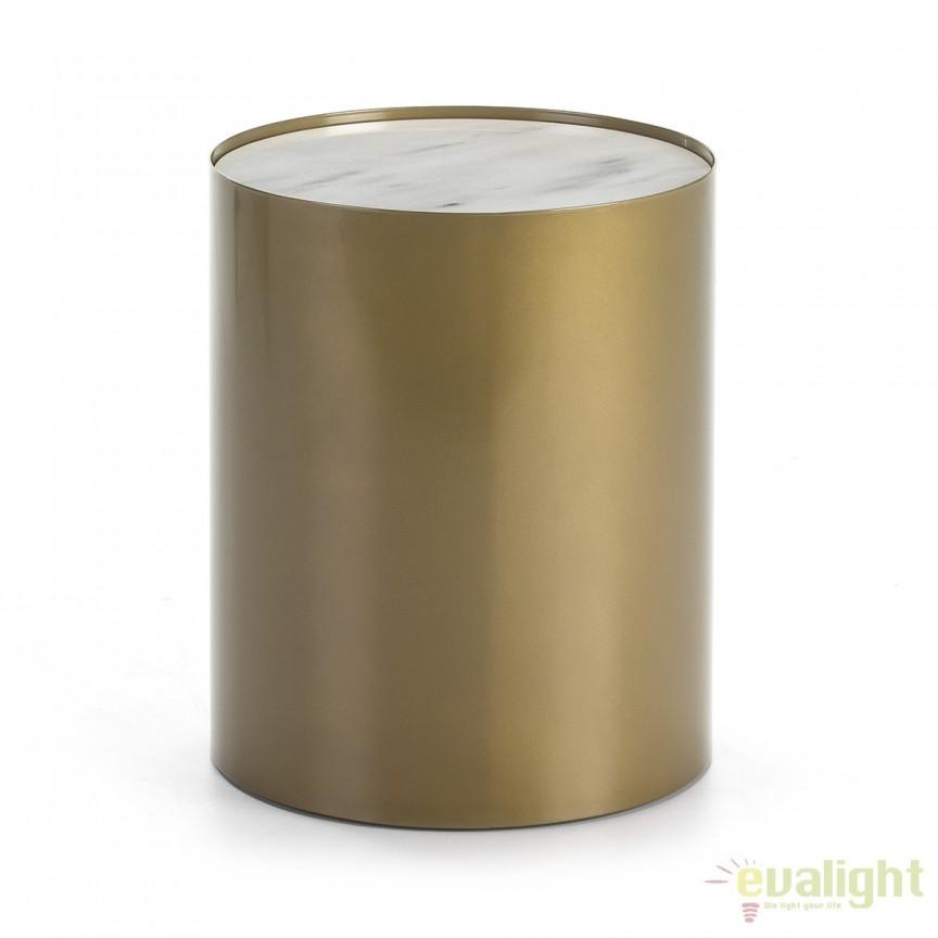 Masuta moderna design LUX Marble White, 40cm 40439/00 TN, Masute de cafea, Corpuri de iluminat, lustre, aplice, veioze, lampadare, plafoniere. Mobilier si decoratiuni, oglinzi, scaune, fotolii. Oferte speciale iluminat interior si exterior. Livram in toata tara.  a