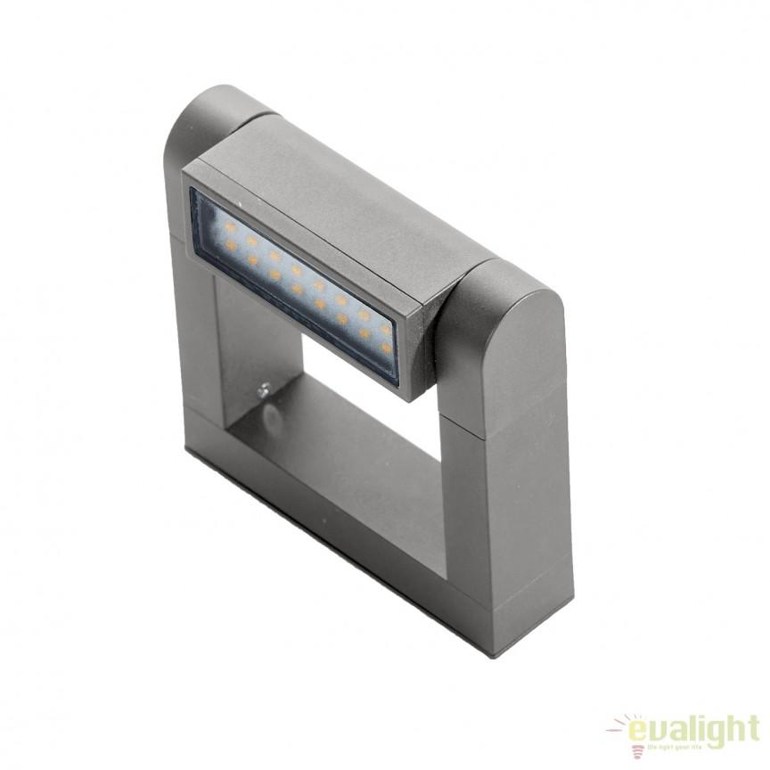 Aplica LED directionabila, cu protectie IP54 FRAME WALL, gri deschis, Aplice de exterior moderne , Corpuri de iluminat, lustre, aplice, veioze, lampadare, plafoniere. Mobilier si decoratiuni, oglinzi, scaune, fotolii. Oferte speciale iluminat interior si exterior. Livram in toata tara.  a