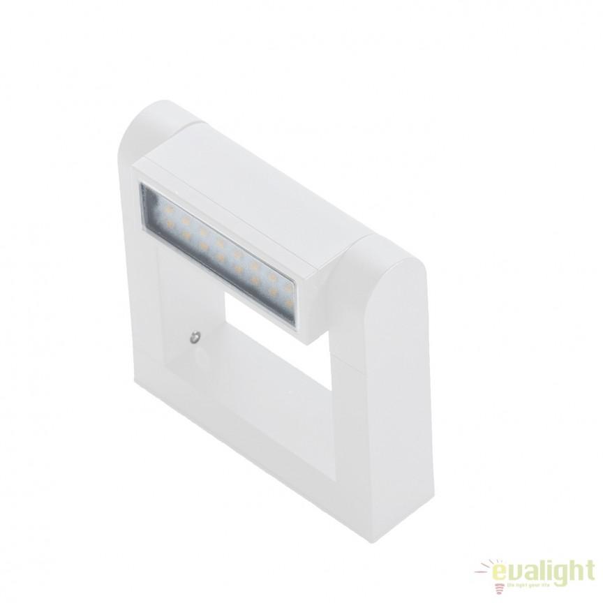 Aplica LED directionabila, cu protectie IP54 FRAME WALL, alb, Aplice de exterior moderne , Corpuri de iluminat, lustre, aplice, veioze, lampadare, plafoniere. Mobilier si decoratiuni, oglinzi, scaune, fotolii. Oferte speciale iluminat interior si exterior. Livram in toata tara.  a