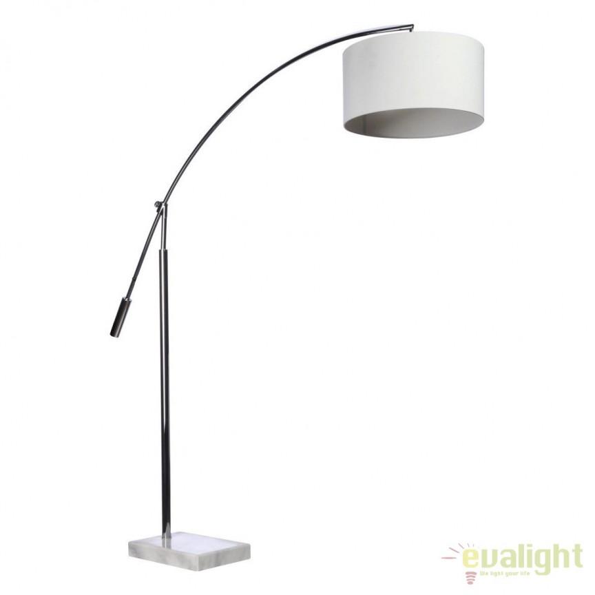 Lampadar tip arc reglabil design modern Bianca White, Cele mai noi produse 2019 a