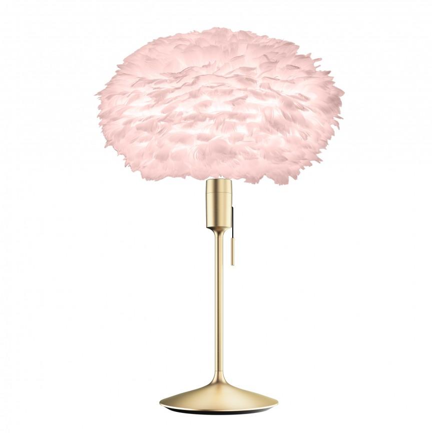 Veioza cu pene de gasca EOS roz/ alama periata, 45cm 2300+4052 VTC, Corpuri de iluminat, lustre, aplice, veioze, lampadare, plafoniere. Mobilier si decoratiuni, oglinzi, scaune, fotolii. Oferte speciale iluminat interior si exterior. Livram in toata tara.