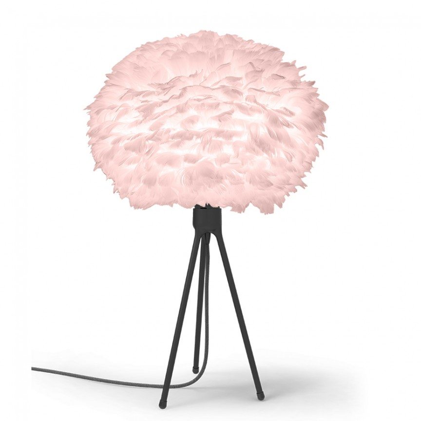 Veioza cu pene de gasca si trepied EOS roz, 45cm , Corpuri de iluminat, lustre, aplice, veioze, lampadare, plafoniere. Mobilier si decoratiuni, oglinzi, scaune, fotolii. Oferte speciale iluminat interior si exterior. Livram in toata tara.