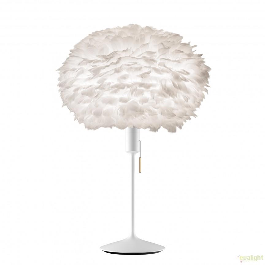 Veioza cu pene de gasca EOS alb, 45cm 2010+4045 VTC, Corpuri de iluminat, lustre, aplice, veioze, lampadare, plafoniere. Mobilier si decoratiuni, oglinzi, scaune, fotolii. Oferte speciale iluminat interior si exterior. Livram in toata tara.