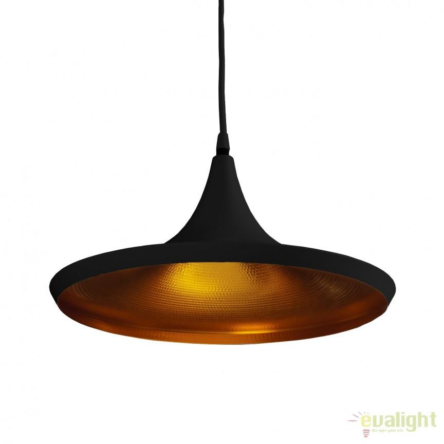 Lustra / Pendul metal design retro CHINK negru/auriu, NOU ! Lustre VINTAGE, RETRO, INDUSTRIA Style,  a