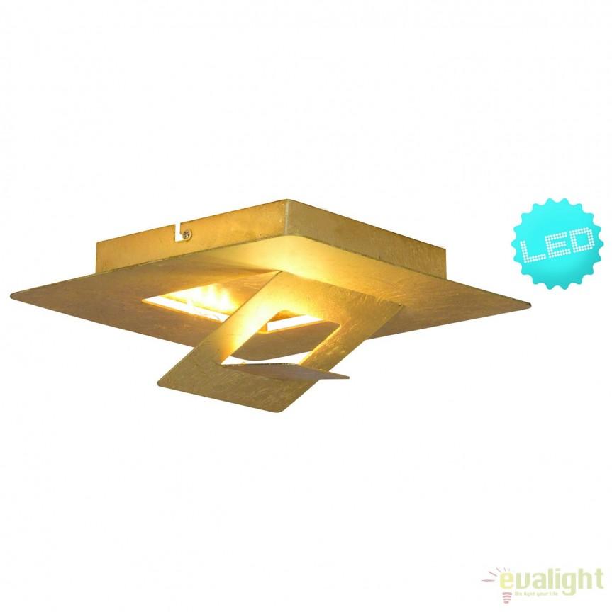 Aplica LED perete sau tavan Firenze, auriu 1253658 NV, Aplice de perete LED, Corpuri de iluminat, lustre, aplice, veioze, lampadare, plafoniere. Mobilier si decoratiuni, oglinzi, scaune, fotolii. Oferte speciale iluminat interior si exterior. Livram in toata tara.  a