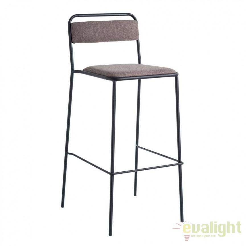 Set de 2 scaune bar Negro, tesatura maro SX-105365, Scaune de bar, Corpuri de iluminat, lustre, aplice, veioze, lampadare, plafoniere. Mobilier si decoratiuni, oglinzi, scaune, fotolii. Oferte speciale iluminat interior si exterior. Livram in toata tara.  a
