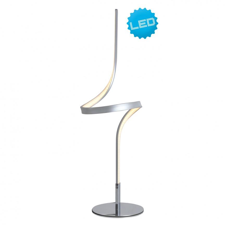 Veioza LED design modern Loop Line argintiu 3106559 NV, Veioze LED, Lampadare LED, Corpuri de iluminat, lustre, aplice, veioze, lampadare, plafoniere. Mobilier si decoratiuni, oglinzi, scaune, fotolii. Oferte speciale iluminat interior si exterior. Livram in toata tara.  a