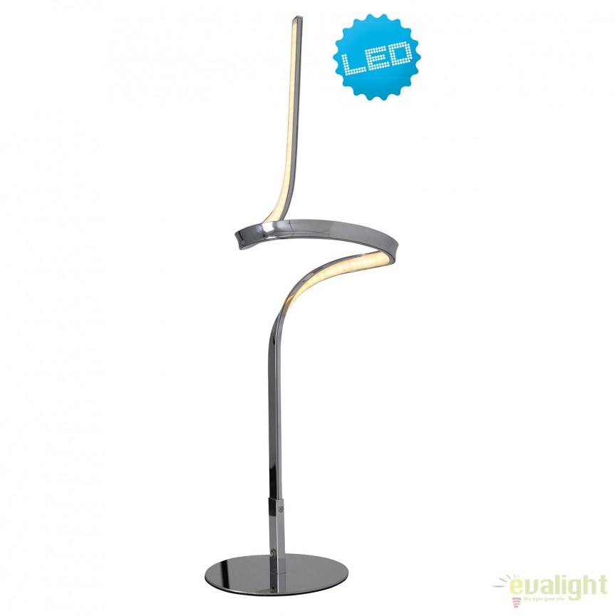 Veioza LED design modern Loop Line, crom 3106542 NV, Veioze LED, Lampadare LED, Corpuri de iluminat, lustre, aplice, veioze, lampadare, plafoniere. Mobilier si decoratiuni, oglinzi, scaune, fotolii. Oferte speciale iluminat interior si exterior. Livram in toata tara.  a