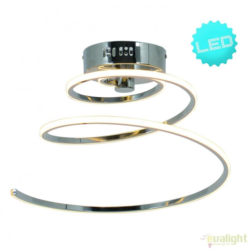 Lustra LED design modern Loop Line 1259442 NV, Lustre moderne aplicate, Corpuri de iluminat, lustre, aplice, veioze, lampadare, plafoniere. Mobilier si decoratiuni, oglinzi, scaune, fotolii. Oferte speciale iluminat interior si exterior. Livram in toata tara.  a