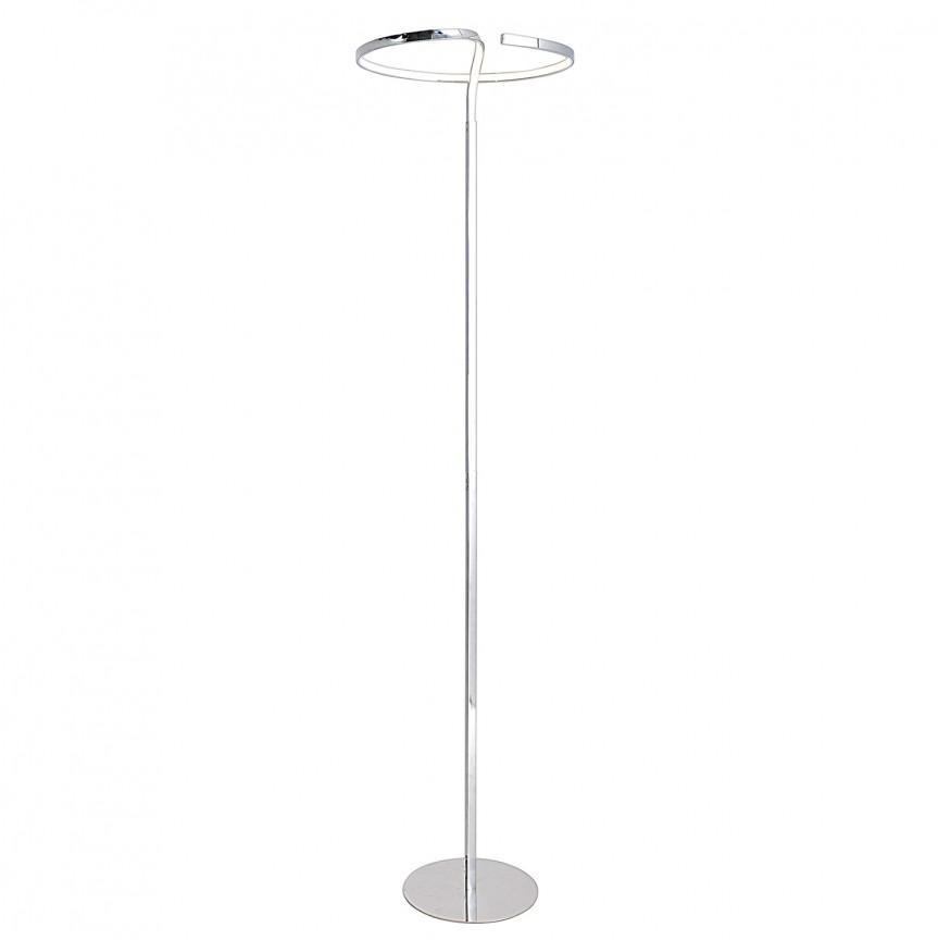 Lampadar LED design modern Loop Line crom 2050142 NV, Veioze LED, Lampadare LED, Corpuri de iluminat, lustre, aplice, veioze, lampadare, plafoniere. Mobilier si decoratiuni, oglinzi, scaune, fotolii. Oferte speciale iluminat interior si exterior. Livram in toata tara.  a