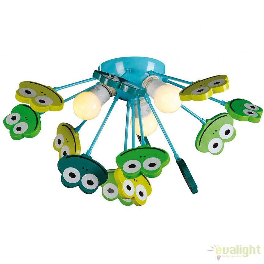 Lustra camera copii Frog 1077661 NV, Corpuri de iluminat, lustre, aplice, veioze, lampadare, plafoniere. Mobilier si decoratiuni, oglinzi, scaune, fotolii. Oferte speciale iluminat interior si exterior. Livram in toata tara.