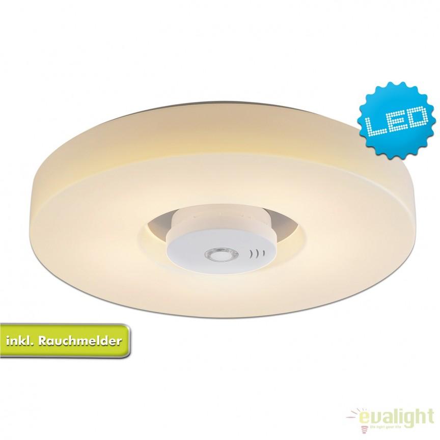 Plafoniera LED cu detector de fum Pisa 1216623 NV, Plafoniere LED moderne⭐ ieftine si de lux pentru living, dormitor, bucatarie.✅DeSiGn LED dimabil cu telecomanda!❤️Promotii lampi tavan cu LED❗ ➽ www.evalight.ro. Alege oferte la corpuri de iluminat cu LED pt interior de tip lustre aplicate sau incastrate tavan fals si perete (becuri cu leduri si module LED integrate cu lumina calda, naturala sau rece), ieftine de calitate deosebita la cel mai bun pret.  a