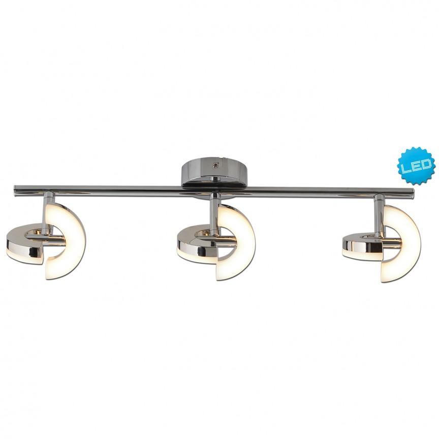 Plafoniera LED moderna cu 3 spoturi directionabile Affi 1220542 NV, Spoturi - iluminat - cu 3 spoturi, Corpuri de iluminat, lustre, aplice, veioze, lampadare, plafoniere. Mobilier si decoratiuni, oglinzi, scaune, fotolii. Oferte speciale iluminat interior si exterior. Livram in toata tara.  a
