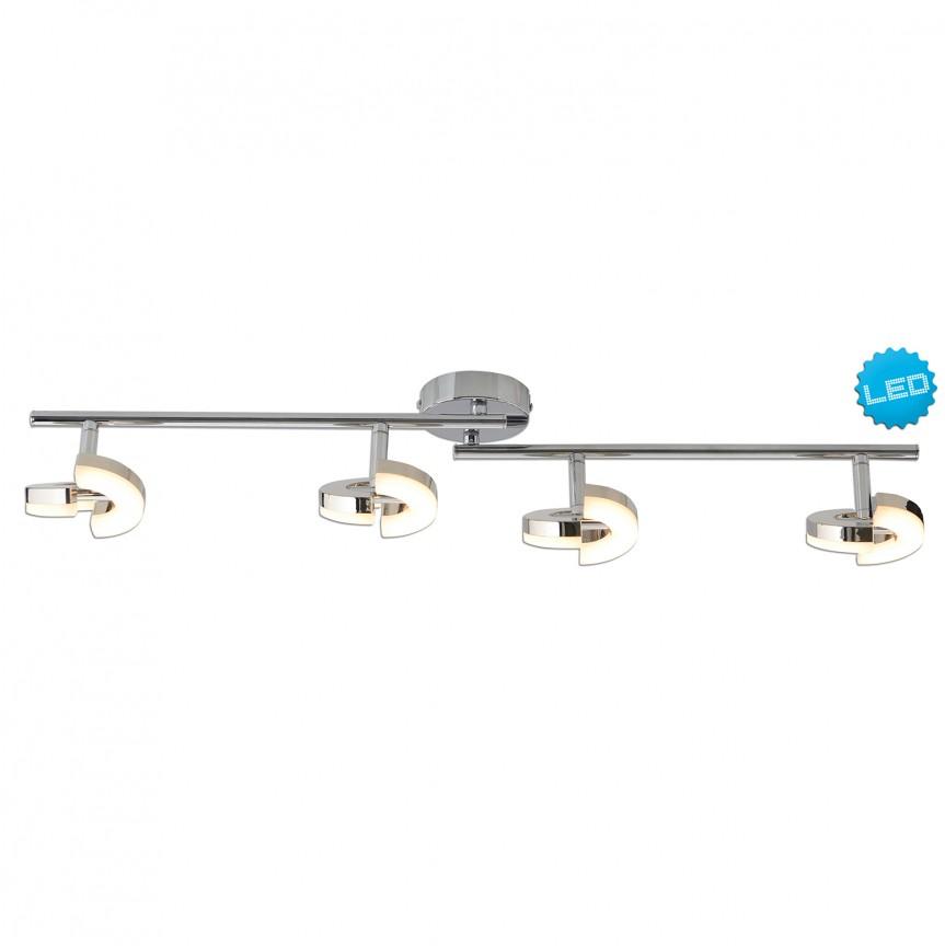 Plafoniera LED moderna cu 4 spoturi directionabile Affi 1220642 NV, Promotii si Reduceri⭐ Oferte ✅Corpuri de iluminat ✅Lustre ✅Mobila ✅Decoratiuni de interior si exterior.⭕Pret redus online➜Lichidari de stoc❗ Magazin ➽ www.evalight.ro. a
